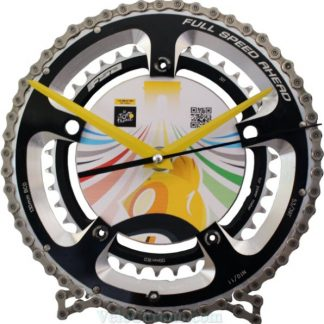 horloge decorative, velo horloge de bureau, velo design, cyclisme, velo cadeau, eco-horloge, bike clock, cycling, ecofriendly gift, FSA, recycled bicycle gear desk clock, upcycled clock, bicycle clock, cycling gift,