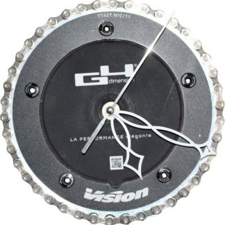 horloge decorative, velo horloge murale, velo design, cyclisme, velo cadeau, eco-horloge, bike clock, cycling, ecofriendly gift, Vision, recycled bicycle gear desk clock, upcycled clock, bicycle clock, cycling gift,
