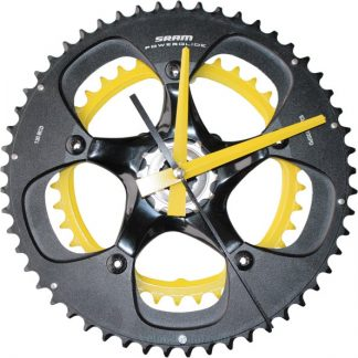 horloge decorative, velo horloge murale, velo design, cyclisme, velo cadeau, eco-horloge, bike clock, cycling, ecofriendly gift, SRAM, recycled bicycle gear desk clock, upcycled clock, bicycle clock, cycling gift,