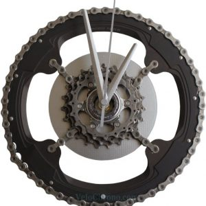horloge decorative, velo horloge murale, velo design, cyclisme, velo cadeau, eco-horloge, bike clock, cycling, ecofriendly gift, Campagnolo, recycled bicycle gear desk clock, upcycled clock, bicycle clock, cycling gift,
