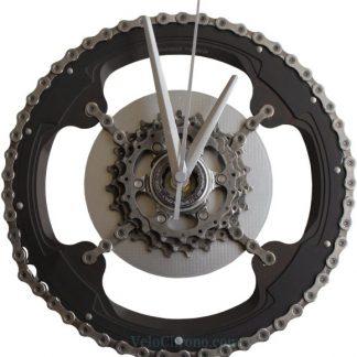 horloge decorative, velo horloge murale, velo design, cyclisme, velo cadeau, eco-horloge, bike clock, cycling, ecofriendly gift, Campagnolo, recycled bicycle gear desk clock, upcycled clock, bicycle clock, cycling gift,