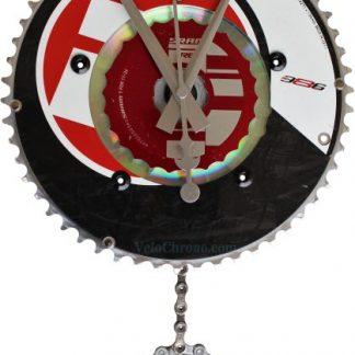 horloge decorative, velo horloge pendule murale, velo design, cyclisme, velo cadeau, eco-horloge, bike clock, cycling, ecofriendly gift, FSA, recycled bicycle gear desk clock, upcycled clock, bicycle clock, cycling gift,