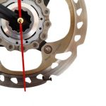 horloge decorative, velo horloge de bureau, velo design, cyclisme, velo cadeau, eco-horloge, bike clock, cycling, ecofriendly gift, Shimano, recycled bicycle gear desk clock, upcycled clock, bicycle clock, cycling gift,