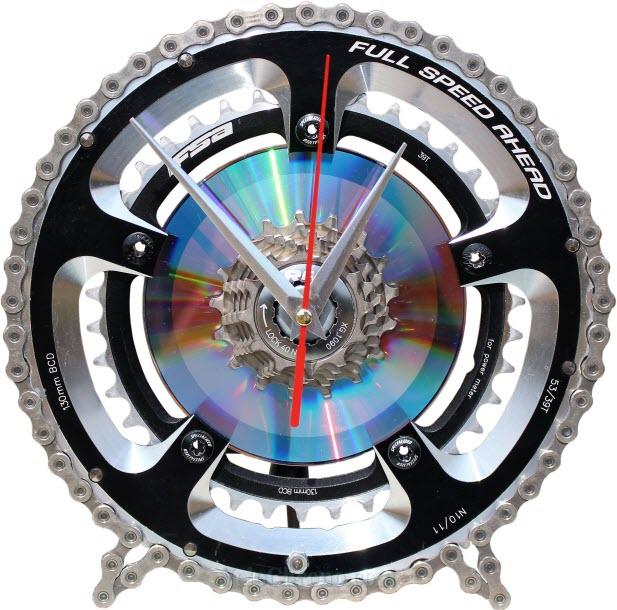 horloge decorative, velo horloge de bureau, velo design, cyclisme, velo cadeau, eco-horloge, bike clock, cycling, ecofriendly gift, FSA, recycled bicycle gear desk clock, upcycled clock, bicycle clock, cycling gift,