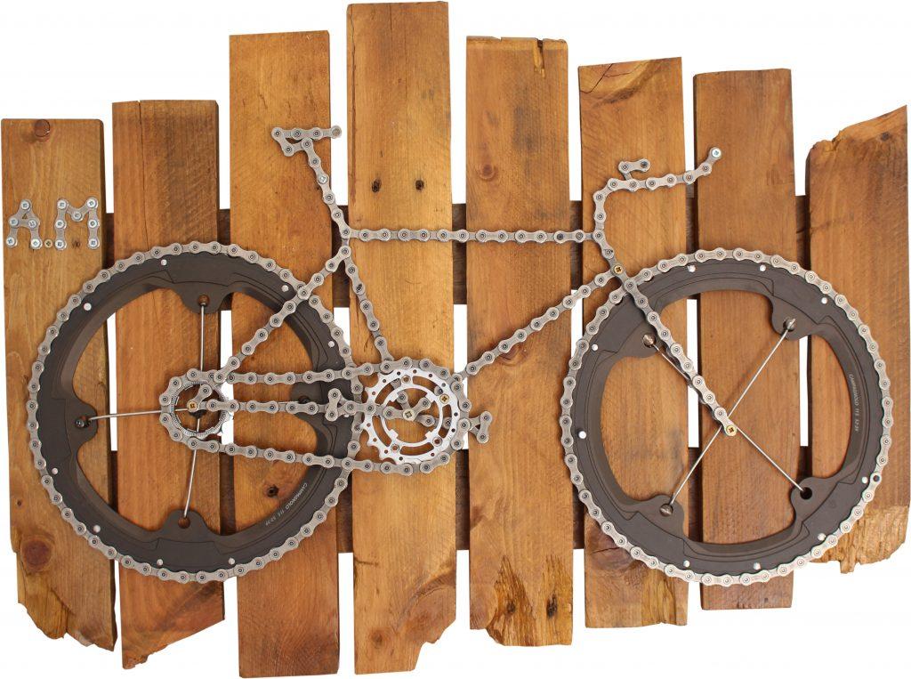 Vélo tableau murale avec plateau Campagnolo, Modele 008 | VeloChrono