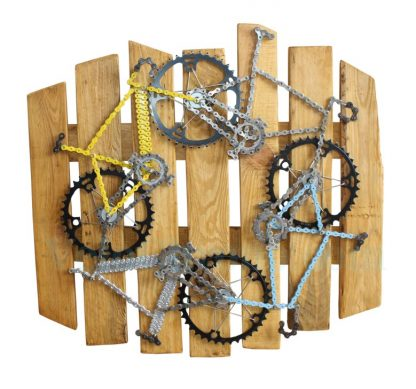 velo tableau, velo panneau, velo design, cyclisme, velo cadeau, eco-cadeau, bike gift, cycling, ecofriendly gift, cycling gift, tableau decorative
