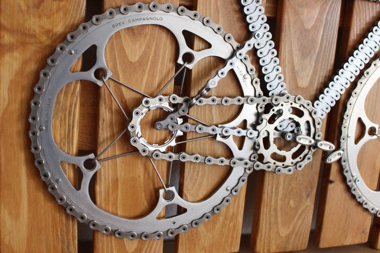velo tableau, velo panneau, CAMPAGNOLO, velo design, cyclisme, velo cadeau, eco-cadeau, bike gift, cycling, ecofriendly gift, cycling gift, tableau decorative,